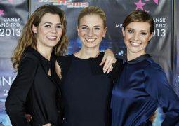 Sofie Lassen-Kahlke, Louise Wolff and Lise Rønne, DMGP 2013 host trio. Photo: Tony Brøchner © DR
