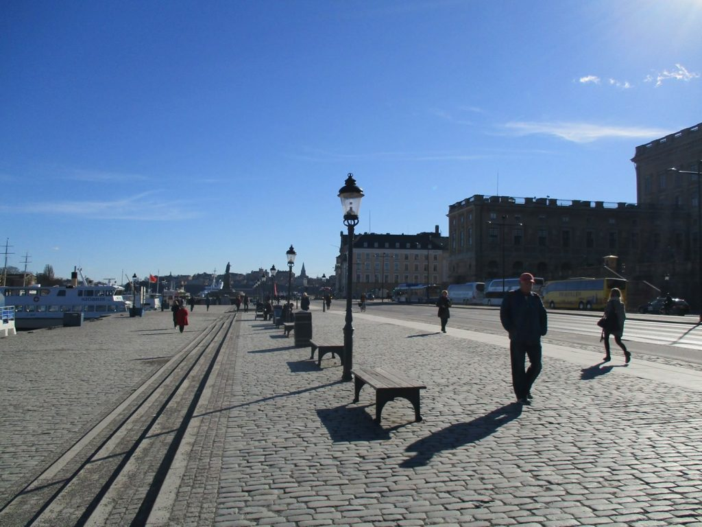 The Waterfront outside the Royal Palace in Stockholm