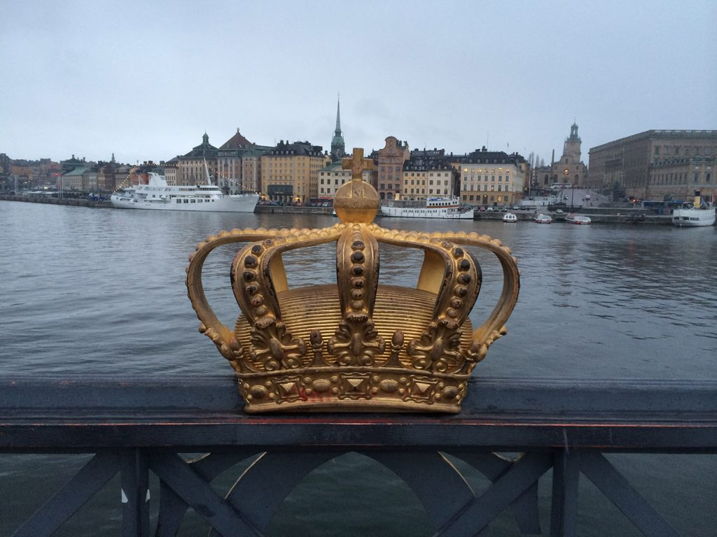 Sights and Sounds of Stockholm- The Royal Crown