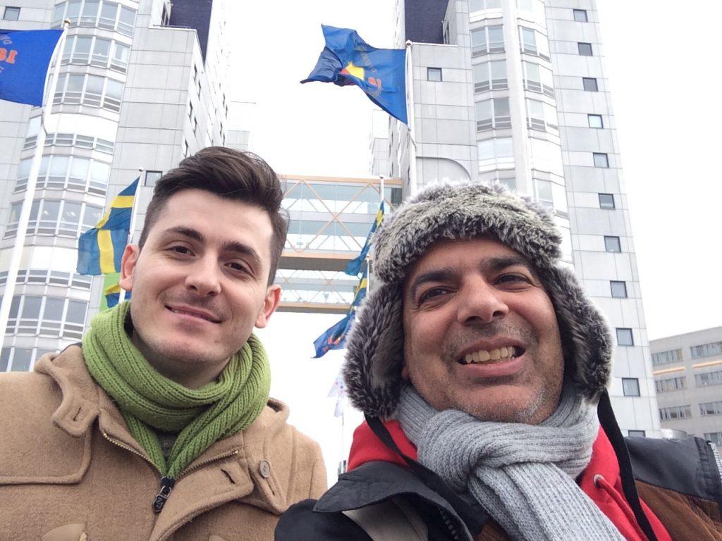 Michalis and Sergio at Globen City