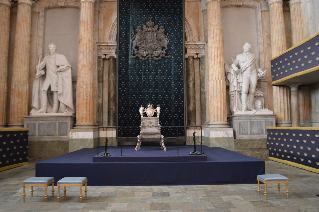 The State Hall with Queen Kristina's Silver Throne
