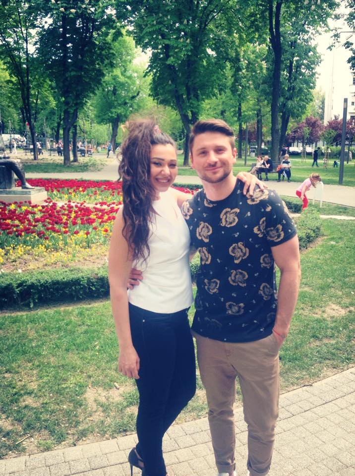 Sanja Vucic and Sergey Lazarev