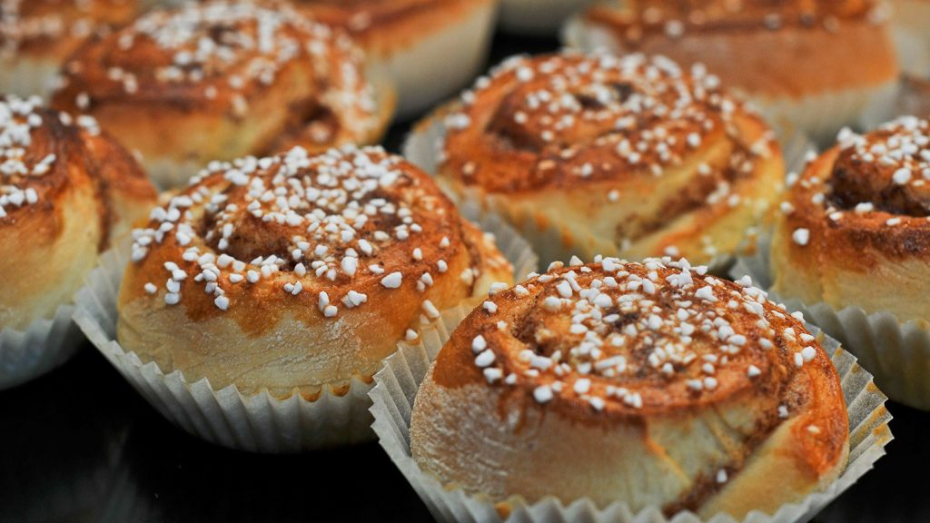 Swedish pastry - Cinnamon buns called Kanelbullar