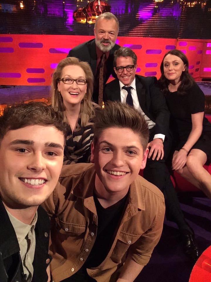 Joe & Jake's selfie on The Graham Norton Show