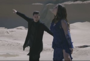 Skorpion and Ira Losco in the Walk on water music video