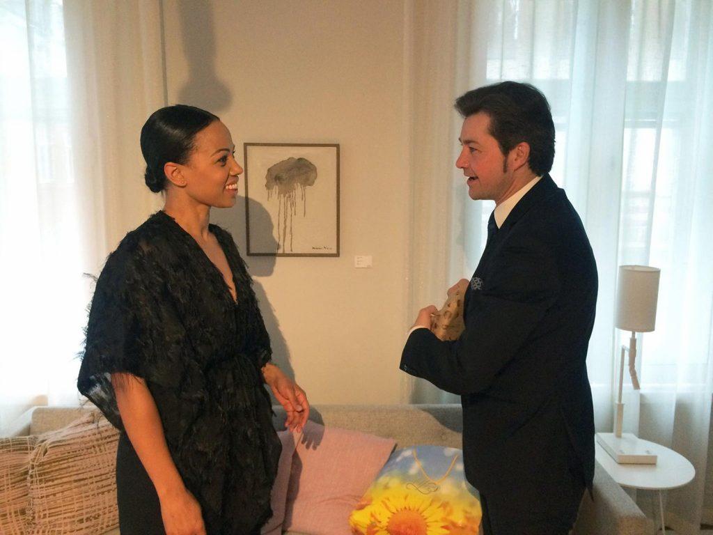 Alice Bah Kuhnke congratulates Yevhen Nyshchuk on Ukraine's Eurovision victory (fb.com/mincultUA ©)