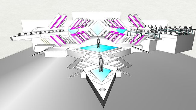 """The """"tunnel"""" will feature LED surfaces with video content, lighting up the whole arena! (© SVT)"""