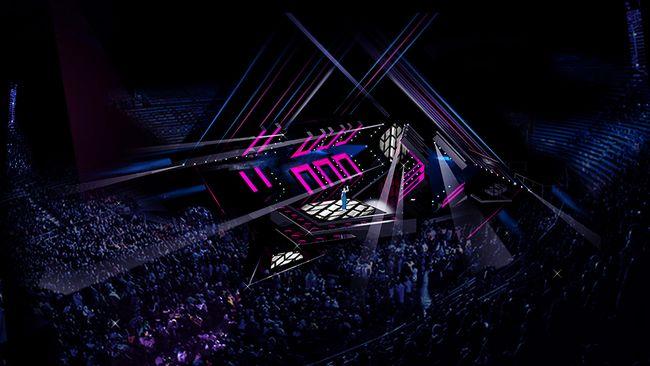 The full stage plan for Melodifestivalen 2017! (© SVT)